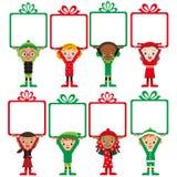 Närvarande julbarn Fotografering för Bildbyråer