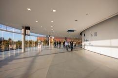 Närvarande personer inom Fira Barcelona Gran via på den SAP TechEd konferensen arkivbilder