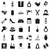Närvarande symbolsuppsättning för kvinna, enkel stil Royaltyfri Fotografi