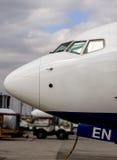 Näsa av Boeing 737 Royaltyfri Fotografi