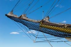 Näsa av ett stort vitt skepp fotografering för bildbyråer