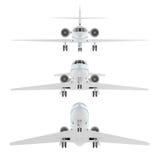 Näsa av privat flygplanflygplan Arkivfoto