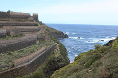 nästa hav för land som terrasseras till Arkivfoton