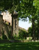 nästa slott till topkapiväggar Arkivfoton
