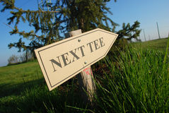 nästa utslagsplats för golf arkivbilder