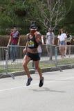 Nästan 30000 löpare deltog i den Boston maraton på April 17, 2017 i Boston Fotografering för Bildbyråer