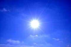 Nästan solen Fotografering för Bildbyråer