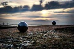 Nästan som att spela boule vid stranden Royaltyfria Foton