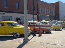 Nästan som 50-tal på bilshowen Arkivbilder