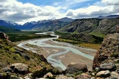 Nästan torr flod Fotografering för Bildbyråer