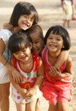 Nätt älskvärd framsida, asiatiska barn Royaltyfri Foto