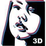 nätt abstrakt flicka vektor illustrationer