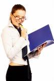 nätt affärskvinna arkivfoton