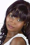 Nätt afrikansk kvinnaCloseup Arkivfoto