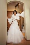 Nätt asiatisk brud Fotografering för Bildbyråer