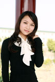 nätt asiatisk flicka Arkivfoto