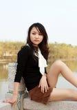 nätt asiatisk flicka Arkivbilder