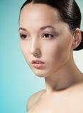 Nätt asiatisk kvinna Arkivfoto