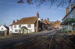Nätt by av Goudhurst, Kent, UK arkivfoto