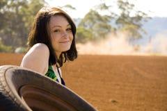 nätt barn för flicka outback royaltyfri foto