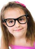 nätt barn för flickaexponeringsglas fotografering för bildbyråer