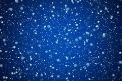 Nätt blå nattSky med stjärnor och lampor Royaltyfria Foton