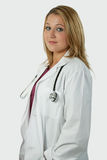 nätt blond doktor Arkivfoton