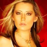 nätt blond flicka Fotografering för Bildbyråer