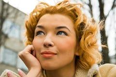 nätt blondin Fotografering för Bildbyråer