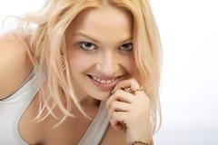 nätt blondin arkivfoto