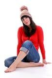 nätt brunett Royaltyfri Fotografi