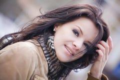 nätt brunett Royaltyfri Bild