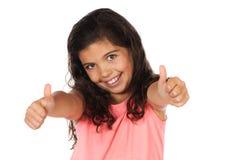 Nätt caucasian flicka Arkivfoto