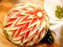 Nätt dekorativ vattenmelon Arkivfoton