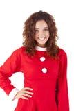 nätt flicka för 3 jul Arkivbild