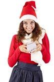 nätt flicka för 3 jul Royaltyfri Bild