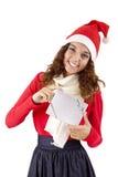 nätt flicka för 3 jul Fotografering för Bildbyråer