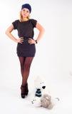 Nätt flicka i hatt Royaltyfria Bilder