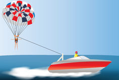 Parascending flicka vektor illustrationer