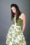 nätt flickautvikningsbrud Fotografering för Bildbyråer