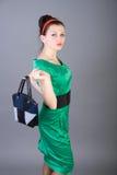 nätt flickautvikningsbrud Royaltyfri Bild