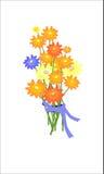Nätt illustration med blommor Arkivfoton