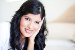 Nätt indisk kvinna Fotografering för Bildbyråer
