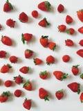 Nätt jordgubbecollage Arkivfoto