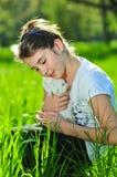 nätt kanineaster flicka Royaltyfri Bild