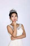 Nätt kinesiskt tänka för brud Royaltyfria Foton