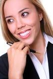 nätt kvinna för affär royaltyfri foto