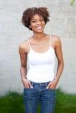 nätt kvinna för afrikansk amerikan Royaltyfria Bilder