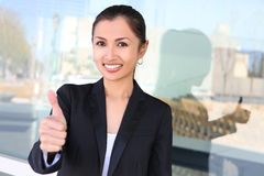 nätt kvinna för asiatisk affär Arkivfoton
