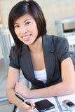 nätt kvinna för asiatisk affär Fotografering för Bildbyråer